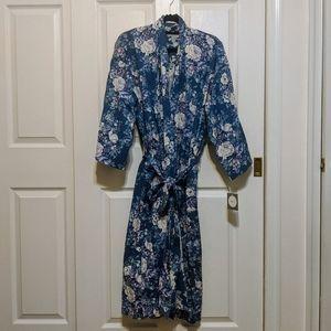 Vintage Christian Dior Floral Spring Blossoms Robe